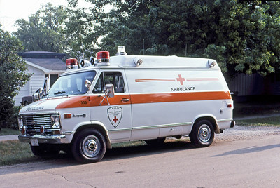 1983  MONROE FIRE SCHOOL  ELKHORN AREA AMBULANCE WI  UNIT 353  CHEVY -     JDS PHOTO