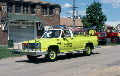 1983  MONROE FIRE SCHOOL  BLACKHAWK FPD  BRUSH 1  CHEVY 4X4 - ALEXIS   JDS PHOTO