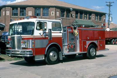 1984 MONROE FIRE SCHOOL  E-ONE DEMO ENGINE   SPARTAN - E-ONE    JDS PHOTO