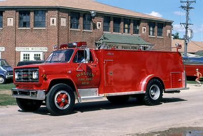 1984  MONROE FIRE SCHOOL  WARREN FD  TANKER 12  GMC - ALEXIS   JDS PHOTO