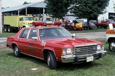 1984  MONROE FIRE SCHOOL  BEDFORD PARK FD  CAR 708  FORD LTD     JDS PHOTO