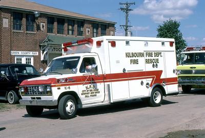 1984  MONROE FIRE SCHOOL  KILBOURNE FD WI  AMBULANCE K-9  FORD E350 -    JDS PHOTO