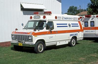 1984  MONROE FIRE SCHOOL  GREEN COUNTY EMS WI  AMBULANCE 804  FORD E350 -   JDS PHOTO