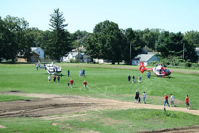 Monroe Sunday infield for the helicopters