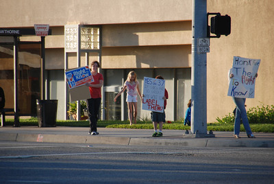 YES ON PROP 37 ~ HAWTHORNE BLVD AT TORRANCE