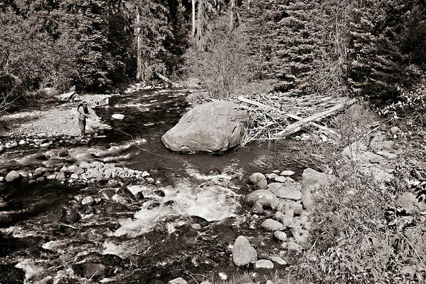 Fly fishing at Montana's Mountain Sky Guest Ranch and Big Creek - Jim Klug Photos - October 2011