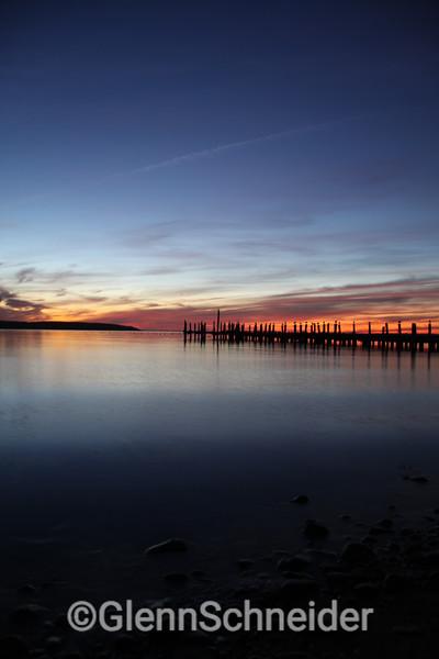 Fort Pond Bay sunset, Montauk, NY. Oct 2009