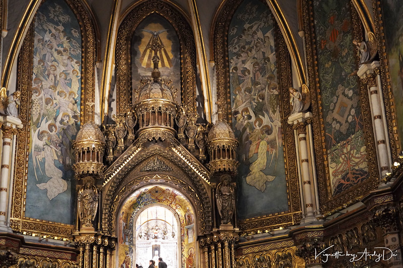 The intricacy of the Benedictine sculptures that make up the Sanctum Santorum is awe inspiring and mesmerizing!