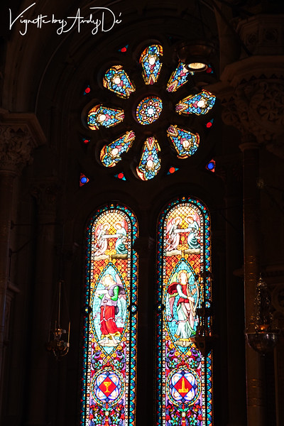 Exquisite stained glass windows greeted us at every Church in Spain, and this was no exception!