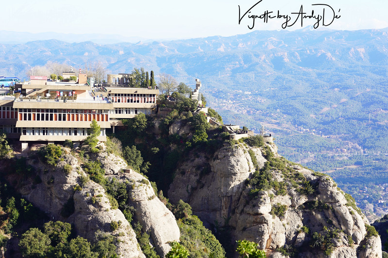 Panoramic perspective against a cold, windy yet bright and sunny morning in Montserrat, Catalunya!