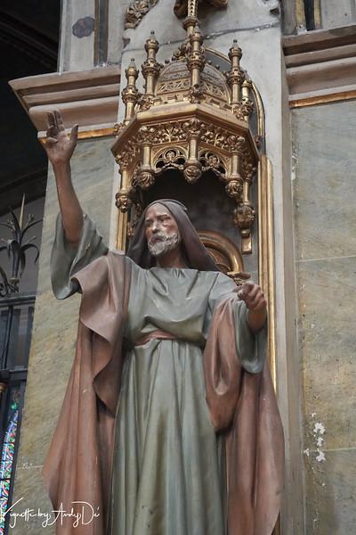 An ornate bust of St. John the Baptist adorn the Sanctum Sanctorum.