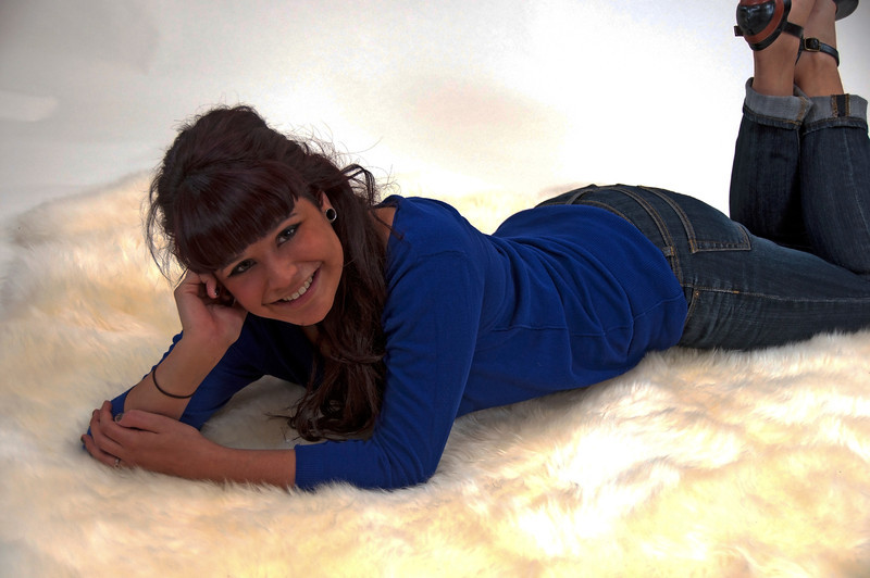 ELIZABETH M ... Posing in my home Photography Studio ... 2012-01