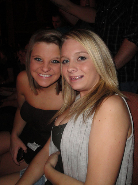 Whitney & Courtney<br /> Riverwind - Eli Young Band concert<br /> 2010-02