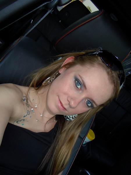 SAMMI KAY H <br /> Riding in the Black Stallion to & from the KID ROCK concert<br /> 2011-05