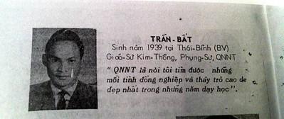 Thầy Trần Bất