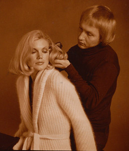 Photo shot with hairdresser earl Kenneth for an ad in Los Angeles Magazine