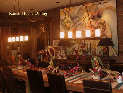 Dine In Style & Warmth in the Main Dining Room - Ranch House.