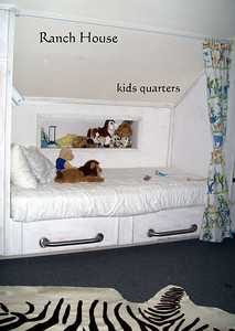 One of the 4 Built-In Captains Bunks in the 3rd Story Kid's Retreat.