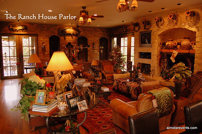 The Ranch House Parlor is richly decorated in a Luxuriously Rugged Architectural Digest Style and complete with TV's/Direct TV/ WiFi/Surround Sound/DVD Players/Movies/ Fireplace/2Wet Bars w/ commercial ice maker, wine captain unit & mini dishwasher for parties & glassware/His & Hers bathrooms/Board Games & Large Gaming Table/Musical Instruments & ample reading material. The perfect place to entertain or relax with family & friends.