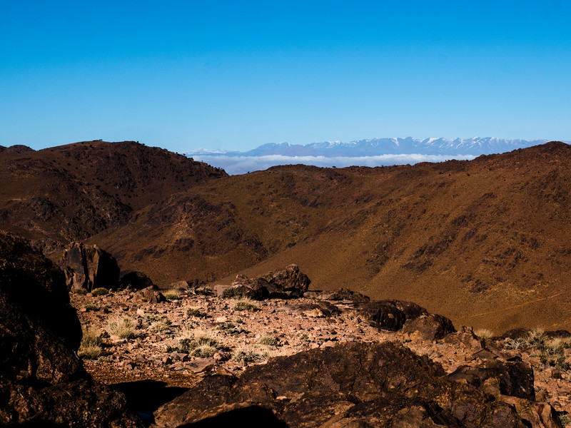 the High Atlas to the north