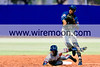 MARK SHIPLEY (SYDNEY BLUES) TURNS A DOUBLE  AS RON CAROTHERS  (MELBOURNE MONARCHS)  SLIDES INTO SECOND BASE.