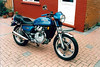 BEW149T, my Italian import Honda CX500. People were very unkind about these bikes but I really liked mine - very smooth and easy to ride, not fast but fast enough under most conditions. I bought this in about 2000 I think.