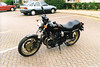 B949KPF, my Yamaha XS1100, newly purchased in June 2000 - what a beast! Nice smooth shaft drive, incredible power and about as fast as I dared go without a fairing!