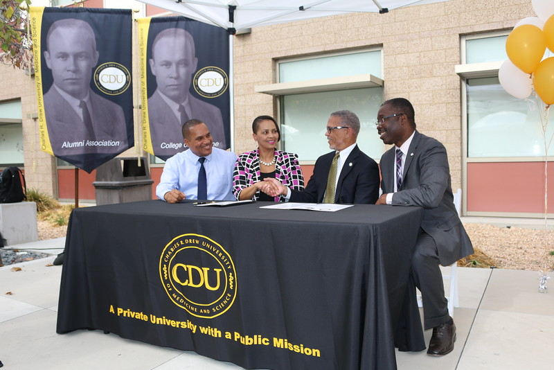 The historic signing of the Memorandum of Understanding between Compton Unified School District and CDU