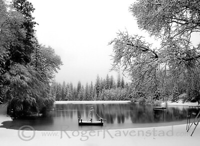 Snow Slide Brentwood Lake Image I.D. #:  M-02-001  Are you looking for more Black and White images? Look HERE for all Black and White work.
