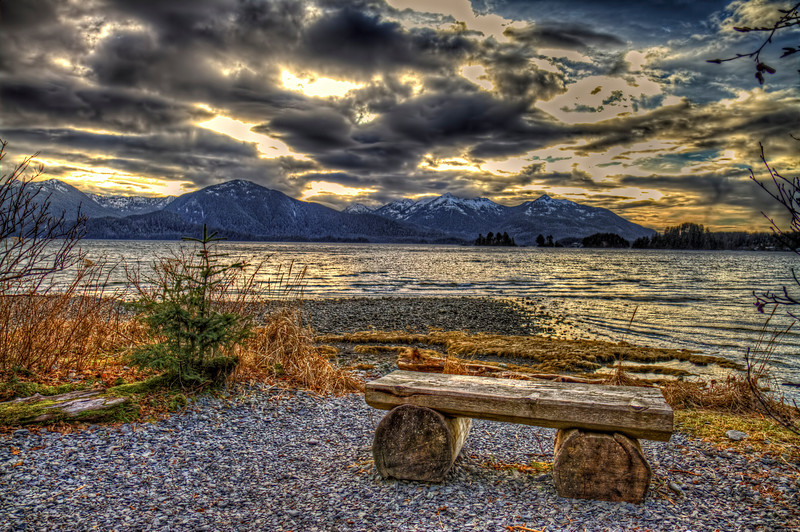 Bench and Clouds11-30-12
