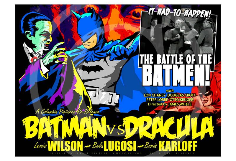 Batman vs Dracula mashup.