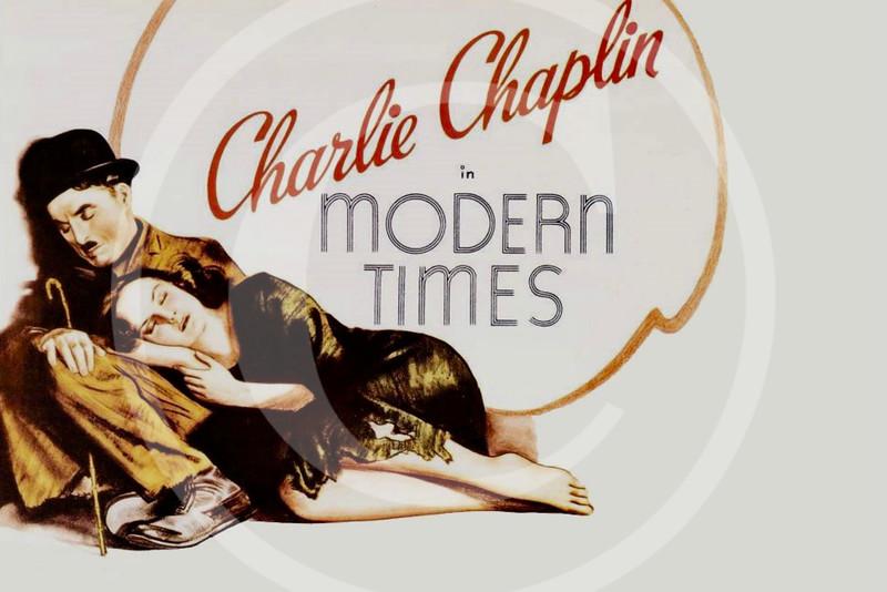 Charlie Chaplin Movie Poster,  Modern Times 1936