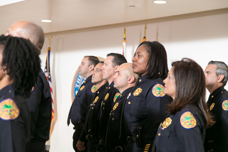 MPD Chief Jorge Colina swearing in ceremony 1-23-18