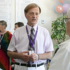 Montachusett Recovery Club held a open house on June 18, 2021 at its new facility at 106 Carter Street, Leominster. Gary Johnson the Vice President of MRC chats with guests at the open house. SENTIENL & ENTERPRISE/JOHN LOVE