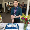 Montachusett Recovery Club held a open house on June 18, 2021 at its new facility at 106 Carter Street, Leominster. Cutting the cake at the open house is President Matt Wright. SENTIENL & ENTERPRISE/JOHN LOVE