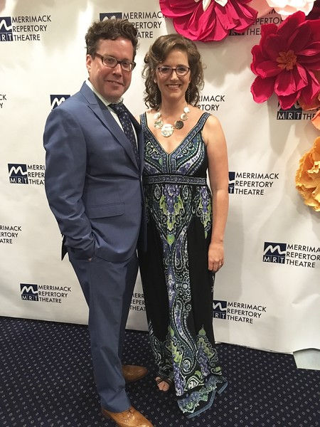 MRT Artistic Director Sean Daniels of Lowell and Artistic Achievement Award recipient Lila Rose Kaplan of Cambridge.