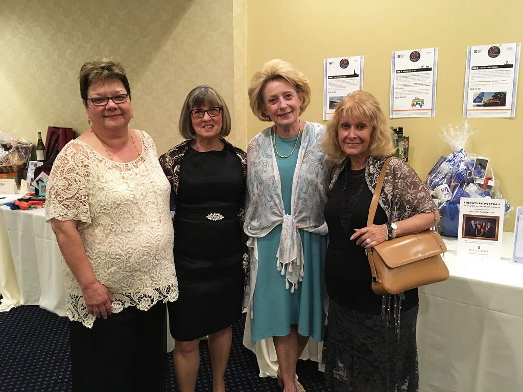 . From left, Linda Rohrer and Carol Gallagher of Lowell, Peggy Hassett of Tyngsboro, and Catherine O�Donnell of Lowell