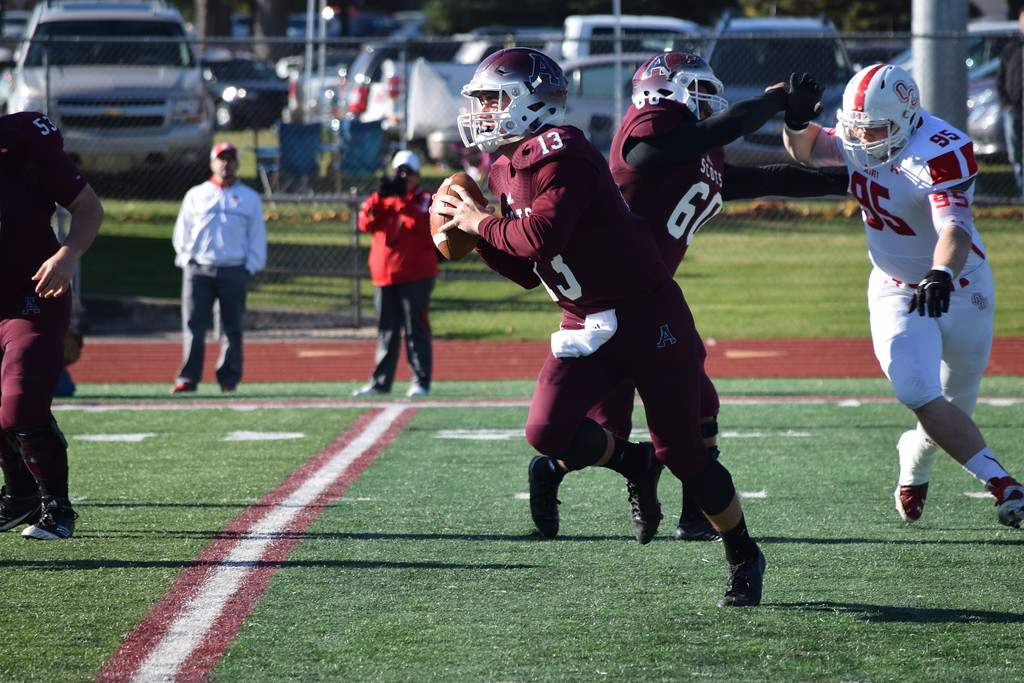 . ZACH HANSON -- FOR THE MORNING SUN Alma College\'s season came to an end on Saturday as it fell to Olivet.