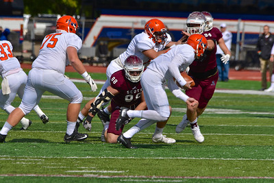Alma College played Hope College close for three quarters during the Scots' homecoming game before falling 35-19 Saturday, Oct. 8, 2016.