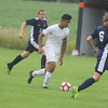 The Alma boys soccer team finished 1-1-1 at its annual home tournament Saturday, August 20, 2016, to open the season. MIPrepZone Photos by Nate Schneider.