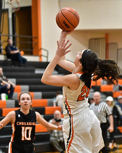 Alma's offense and defense keyed a 41-25 conference win over visiting Chesaning Tuesday, Feb. 20, 2018. (Sun photo gallery by Skip Traynor)