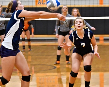 Host Alma defeated Ithaca in straight sets Wednesday, Sept. 6, 2017. (Morning Sun photo gallery by Skip Traynor)