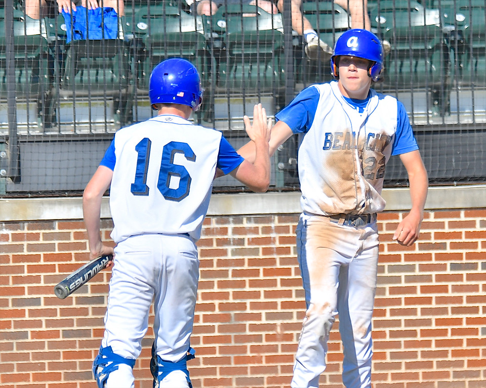 . Beal City moves on to the championship game of MHSAA Division 4 with a 7-3 win over Gaylord St. Mary at MSU\'s McLane Baseball Stadium Friday, June 15, 2018. (Sun photo gallery by Skip Traynor)