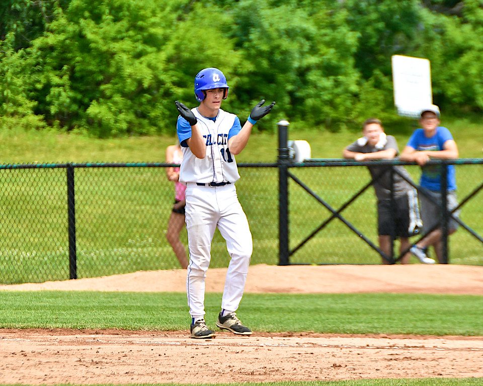 . Beal City claimed the MHSAA Division 4 Baseball Championship scoring eight runs in the sixth inning of a 10-0 win over Unionville-Sebewaing Academy at MSU�s McLane Stadium Saturday, June 16, 2018. (Sun photo gallery by Skip Traynor