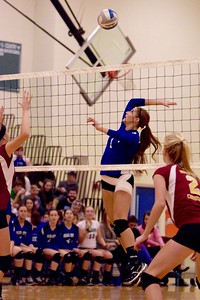 The Beal City volleyball team won on Tuesday as it swept McBain Northern Michigan Christian at home. MIPrepZone photos by Paul Kenneth Beroza.
