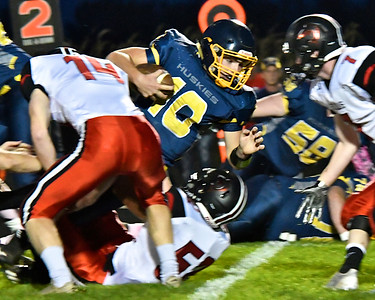 Breckenridge spoiled the playoff dreams of St. Louis with a 12-7 win at home in the last regular season game Friday, Oct. 20, 2017. (Sun photo gallery by Skip Traynor)