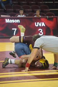 The 17th-ranked CMU wrestling team topped Virginia 22-10 in its home opener Sunday. (Sun Photos by JIM LAHDE)
