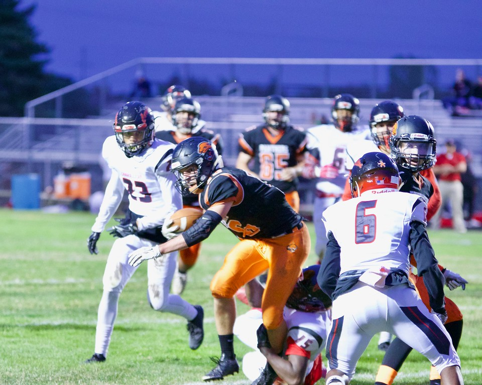 . Alma dropped its first game of the season Friday to Carrollton on homecoming. (Sun Photos by STEVE CHOVANEC)