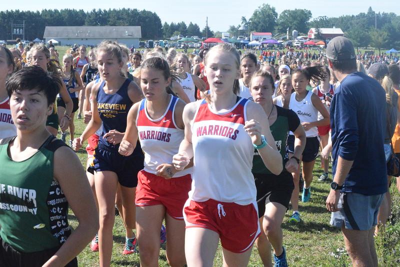 Mt. Pleasant SHA won the girls race at the Chippewa Hills Invite Tuesday. (PHOTOS BY JIM LAHDE -- MIPREPZONE.COM)