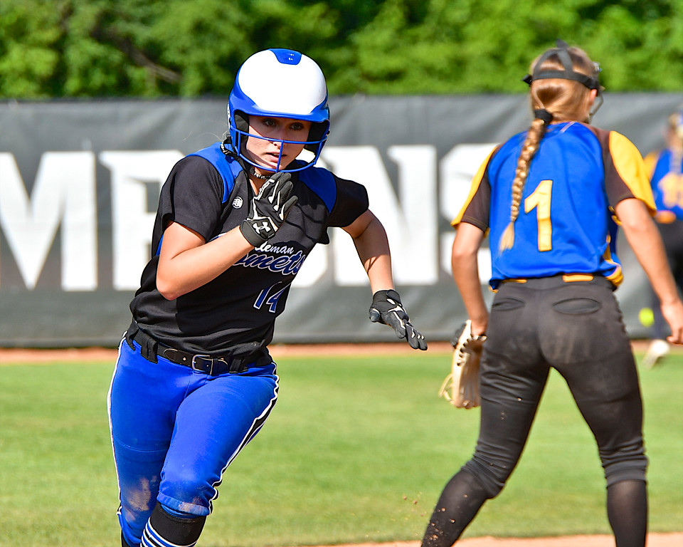. Coleman came up short in their bid for a state championship falling to Centerville 5-2 at MSU�s Secchia Stadium Saturday, June 16, 2018. (Sun photo gallery by Skip Traynor)